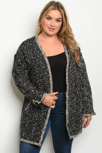 S18-13-2-C7113X BLACK PLUS SIZE JACKET 1-1