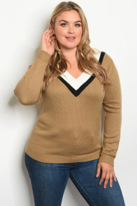 S11-14-2-S2912X MOCHA PLUS SIZE SWEATER 2-2-2