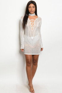 S9-10-1-D40536 OFF WHITE WITH STUDS DRESS 2-2-2    ***WARNING: California Proposition 65***