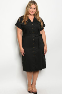 S10-16-3-D7407X BLACK PLUS SIZE DRESS 2-4-1