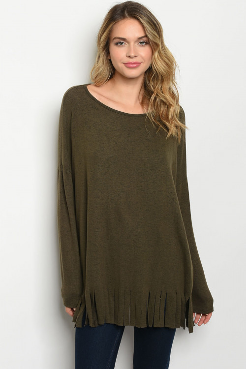 C17-A-4-T51132 OLIVE TOP 2-2-2
