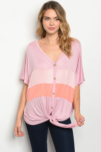 C96-A-2-T90462 MAUVE PEACH TOP 2-2-2
