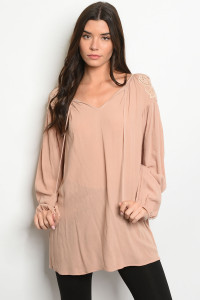 S21-12-5-T11473 TAUPE TOP 2-2-2