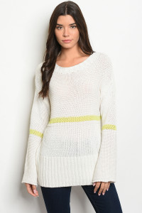 S23-13-3-T20143 IVORY LIME SWEATER 2-1-1