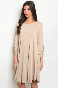 S10-17-2-D9318 TAUPE DRESS 3-2-2
