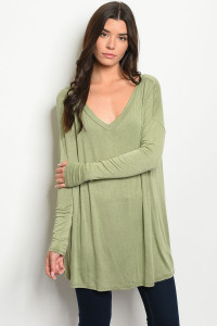 C62-A-2-T7822 OLIVE TOP 2-2-2