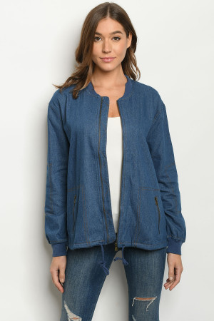 S10-14-3-J11478 BLUE DENIM JACKET 2-2-2