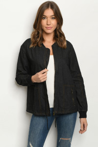SA4-6-3-J11478 BLACK DENIM JACKET 2-2-2