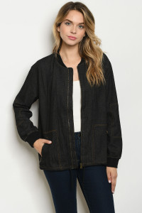 S19-12-3-J11478 BLACK DENIM JACKET 3-2-2