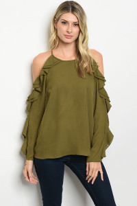 S10-20-4-T13884 OLIVE TOP 2-2-2