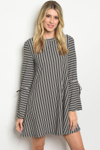 S14-12-3-D32681 BLACK STRIPES DRESS 2-1-1