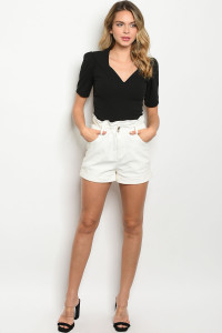 S18-4-2-S12331 OFF WHITE SHORTS 3-2-1