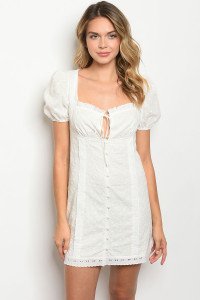 S21-12-2-D2567 OFF WHITE DRESS 3-2-1