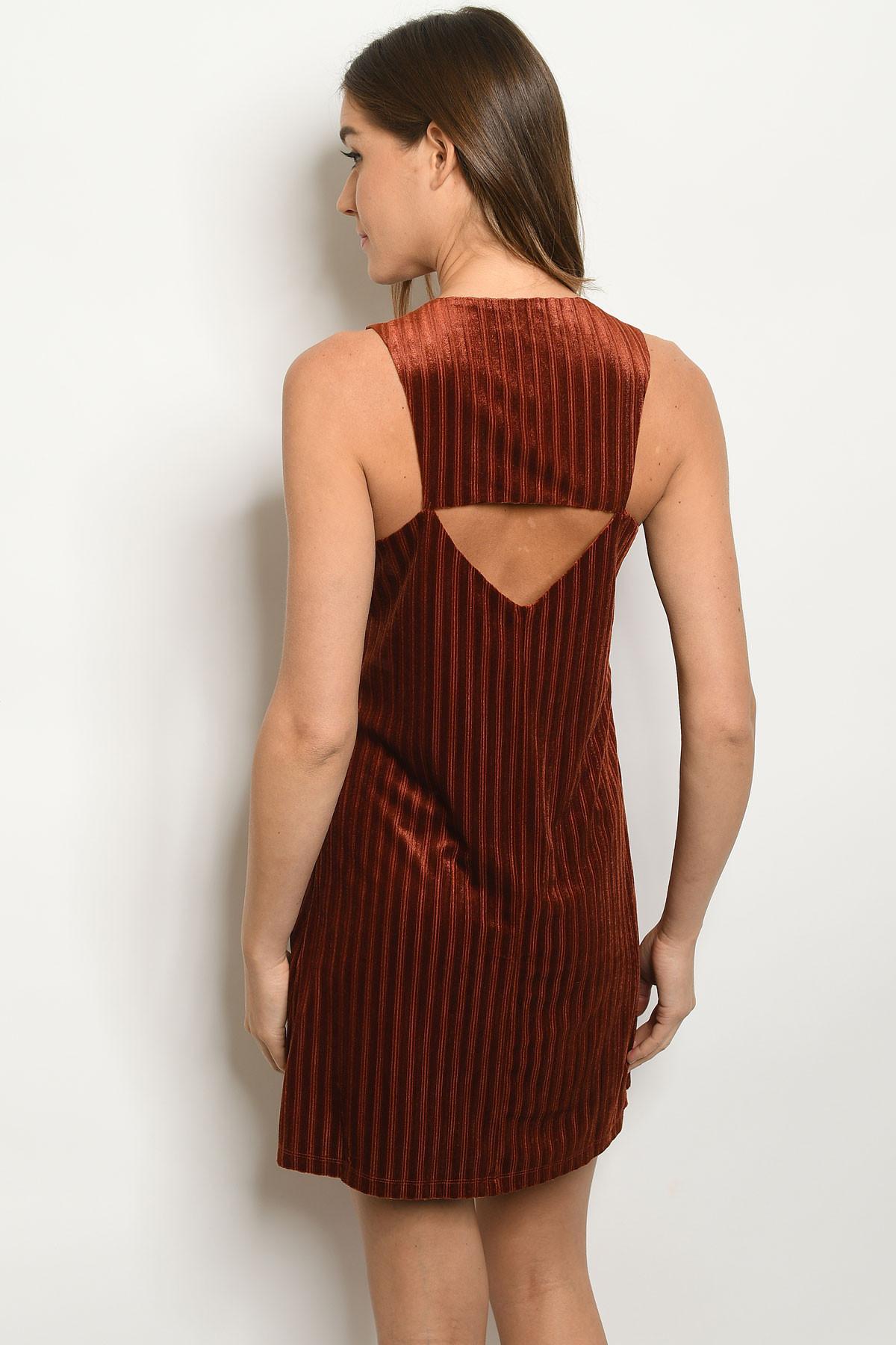 S11 5 1 D385 Rust Velvet Dress 1 2 2 1