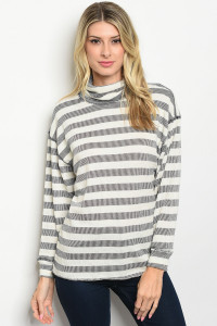 S15-4-4-T2006 IVORY NAVY STRIPES TOP 2-2-2