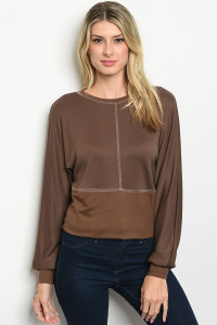 S22-13-3-T2007 BROWN TOP / 3PCS