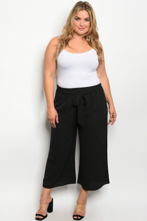 C15-A-3-P9574X BLACK PLUS SIZE PANTS 2-2-2