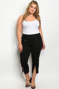 S7-9-4-P1187X BLACK PLUS SIZE PANTS 2-2-2