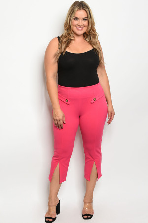 S7-9-4-P1187X FUCHSIA PLUS SIZE PANTS 2-2-2
