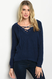S24-8-3-S054 NAVY SWEATER / 5PCS