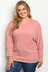 S7-8-3-T5070X MAUVE PLUS SIZE TOP 2-2-2