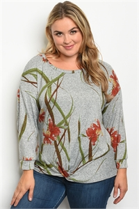 S23-7-2-T5064X GRAY RUST PLUS SIZE TOP 2-1