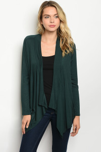 C30-A-2-C34228 HUNTER GREEN CARDIGAN 2-2-2