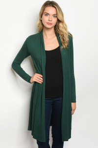 C50-A-7-C33712 HUNTER GREEN CARDIGAN 2-2-2