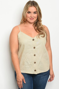 C12-B-7-T3189X NATURAL PLUS SIZE TOP 2-2-2