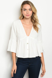 S15-7-5-T119335 OFF WHITE TOP 3-2-1