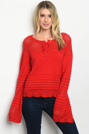S20-8-2-S1588 RED SWEATER 1-3