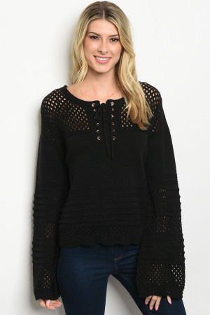 S20-8-2-S1588 BLACK SWEATER 1-3