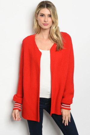 S9-18-2-C1531 RED SWEATER / 3PCS