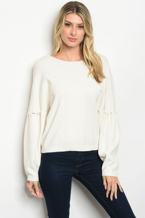 S20-8-2-T1542 IVORY SWEATER / 3PCS