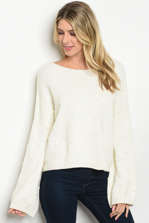 S20-8-2-S1598 IVORY SWEATER / 3PCS