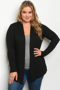 C35-A-1-C3174X BLACK PLUS SIZE CARDIGAN 2-2