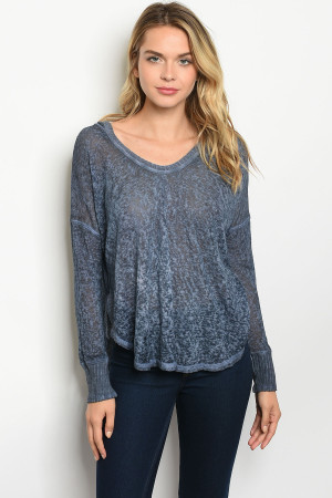C29-B-1-T185 DENIM BLUE TOP 3-2-1