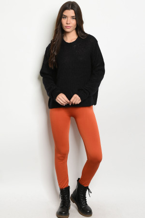 S12-12-2-FAB11802 RUST LEGGINGS / 10PCS