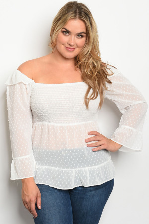 S13-2-1-T7466X IVORY PLUS SIZE TOP 2-2-2