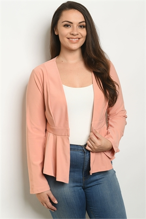 S13-7-1-J2602X PEACH PLUS SIZE JACKET 2-1-1