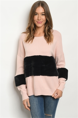 S10-20-1-S1220568 PINK BLACK SWEATER 2-2-2