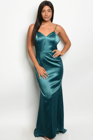 S6-2-2-D73629 HUNTER GREEN DRESS 2-2-2