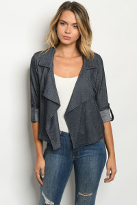S15-8-3-C10127 NAVY DENIM CARDIGAN 2-2-2