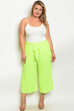 C5-A-2-P9574X NEON LIME PLUS SIZE PANTS 2-2-2