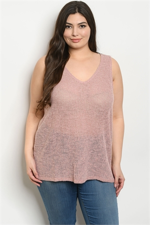 S12-4-2-T8622X BLUSH PLUS SIZE TOP 3-2-1