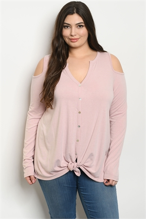 C46-A-7-T8315X BLUSH PLUS SIZE TOP 3-2-1
