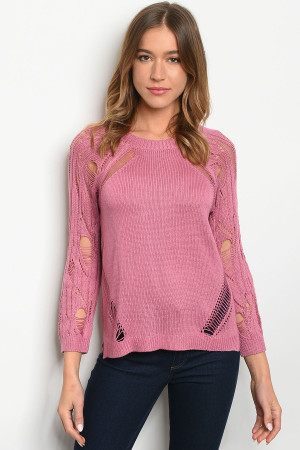 S12-10-1-T6005 MAUVE SWEATER 2-2-2