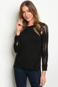 S11-8-4-T6005 BLACK SWEATER 2-2-2