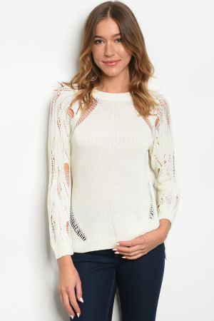 S9-16-3-T6005 IVORY SWEATER 3-2-2