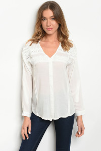 S19-12-5-T10316 OFF WHITE TOP 2-2-2